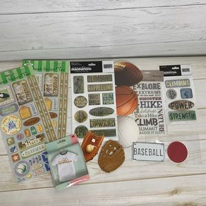 Other - Bundle of Sports Stickers Scrapbook Accessories